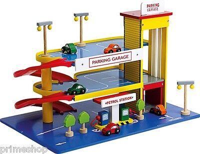 Parkhaus Tankstelle Fahrstuhl aus Holz viel Zubehör ca. 60 x 39 x 41 cm ab 3 J.