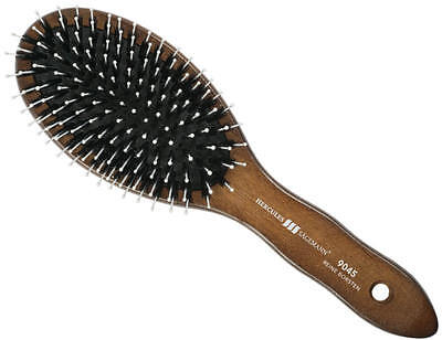 Boar Bristles Hair Brush Walnut Wood Handle