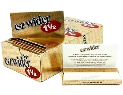 E Z Wider Rolling Papers 1 1/2 Gold Buy 4@Only $1.63 per pack USA (E Gold Usa)