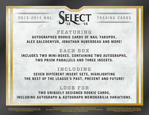 2013-14 Panini Select Hockey Cards Hobby Box Kitchener / Waterloo Kitchener Area image 5