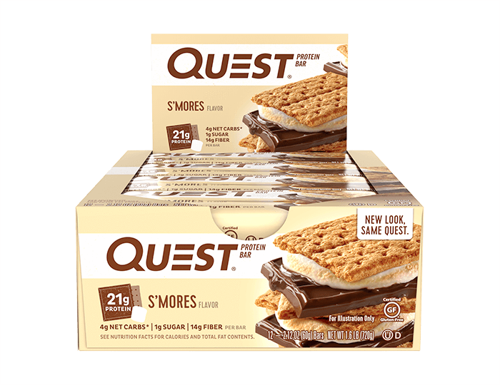 protein bar 12 count s mores