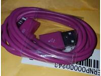 42 iPhone chargers. Purple iPhone 4 chargers