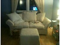 Sofa bed with matching footstool