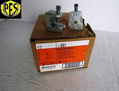 New Box Of 25 Bridgeport 951 1 Insulator Support For 1 Rigid Imc Emt Conduit