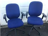 2 x Verco office chairs - £30
