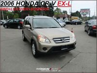 2006 Honda CR-V EX-L+4WD+Heated Leather Seats+Srunroof+New Tires