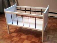 LARGE HAND-MADE DOLL CRIB - $20