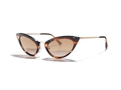 TOM FORD Cat Eye Damen Sonnenbrille GRACE FT0349S 47G Gold Braun verspiegelt