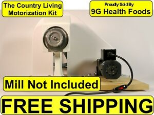 NEW-Country-Living-Grain-Mill-Motor-Kit-Motorization-Motorize-Power-Pulley