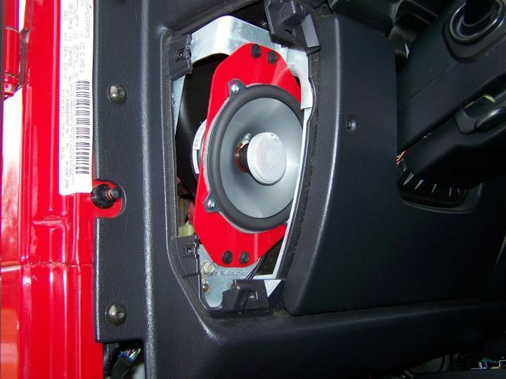 "NalinMFG™ Jeep TJ  LJ 4""x6"" to 5.25"" Speaker Adapters"