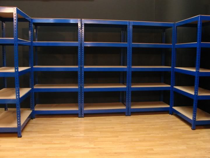 GARAGE SHED STORAGE SHELVING RACKING shelves tools trailer shop workshop digger ford transit welder