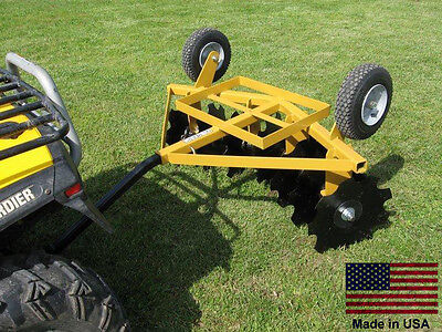 Disc Cultivator Harrow - Tow Behind Atv Utv & Garden Tractor - 5 Ft Cut Width