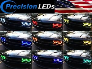 Dodge-Challenger-RGB-LED-Halo-Rings-Color-Changing-WiFi-Remote-Control