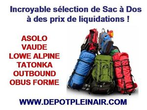 Incroyable selection des Sacs à Dos / Backpacks en Liquidation!