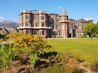 Lake District Hotel recruiting waiting on staff - live-in available. Fantastic place to work.