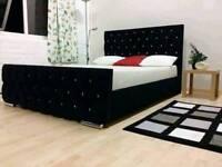 FRAME CRUSHED VELVET FLORENCE BEDS NOW FOR SALE!!