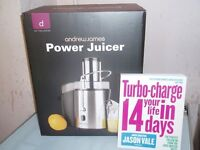 Andrew James Professional Whole Fruit Power Juicer and Juicer Book.