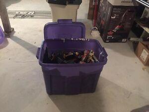 HUGE Rubbermaid container of lego and mega blocks