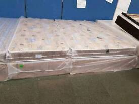 Quilted divan beds. Single £80 Double £130 King £175