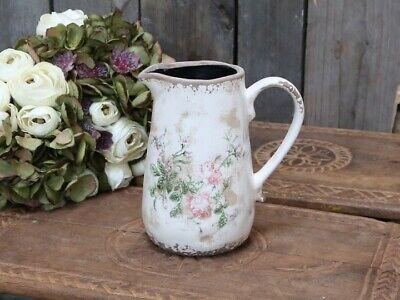 große Milchkanne Zinkkanne Blechkanne Kanne Vase Rosen Blumen Landhausstil Deko