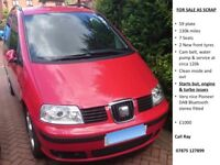 Seat Alhambra Stylance 2.0TDI - 2009 - Selling as not fully working / SCRAP