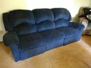 Double reclining sofa couch