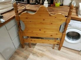 Single solid Pine bed headboard