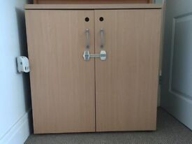 Filing cupboard and matching 3 drawer cabinet