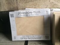 Johnsons natural sand tiles & mosaic border.