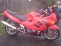 GSX600F, 2000 reg, brand new mot, red