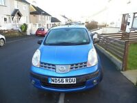 nissan note 2006 1.6 petrol blue