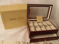 Mele & Co Wooden Watch Display/Storage Box - Brand New