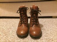 Dune Tan Brown Women's Ankle Boots - Size 5