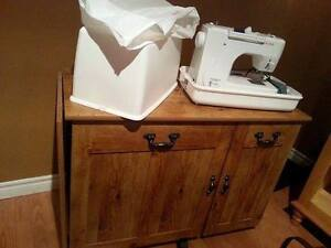 Sewing machine and craft table