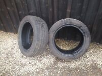Two Avon ZV7 195/50 R15 tyres