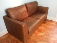 2 Leather Sofas (1 x 3seater + 1 x 2 Seater)