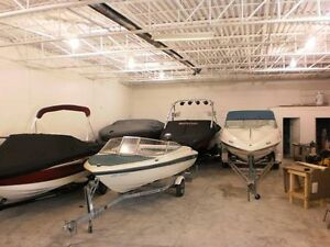 Heatined indoor winter storage for boats, cars and bikes