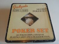 Poker Set & Cards - Good Condition