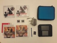Nintendo 2DS Bundle including 2 x Games, Charger and Case