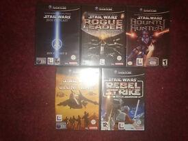5 Star Wars games for the Nintendo Gamecube. Retro.