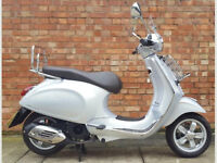 Vespa primavera 125 touring in grey with ONLY 15 miles!