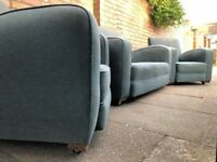 Original 1930s vintage Art Deco sofa set/suite