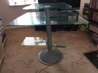 glass computer stand