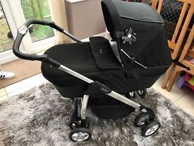 Silver Cross Sleepover Elegance, Silver Cross Car Seat, rain cover and changing bag