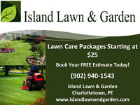 Mowing packages starting at $25. Book a FREE estimate!