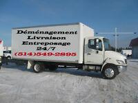 DEMENAGEMENT a bas prix 60$/h camion+2 demenageurs.514-549-2895