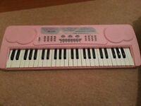Pink electric keyboard