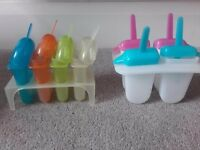 ice lolly makers and ice cube trays
