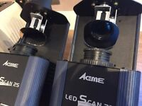 2 x Acme Dynamic 25 Scan LED Scanner