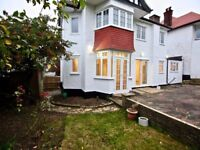Family spacious 5 bedroom, 4 bathroom and 3 reception and MASSIVE garden- Available now